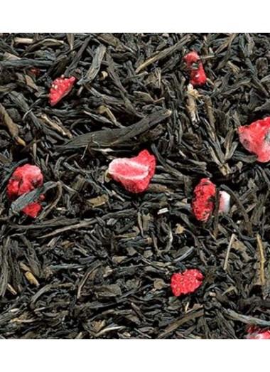 Té verde desteinado con fresa